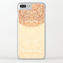 Elegance Ornate Mehndi Mandala v.2 Clear iPhone Case