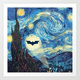 Starry Night Heroes Art Print