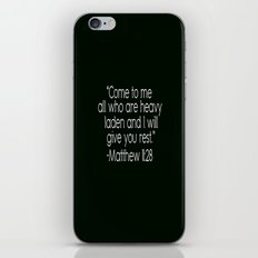 Matthew 11:28 iPhone & iPod Skin