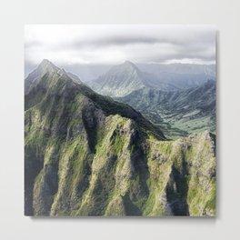 Green Mountains Metal Print