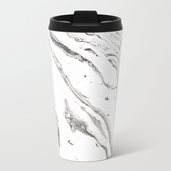 Minimalist marble Metal Travel Mug