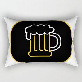 Beer Mug Foam  Neon Sign Icon Rectangular Pillow