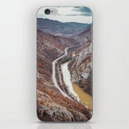 Beautiful picture of the canyon in Serbia. Dramatic sky and mountains iPhone Skin