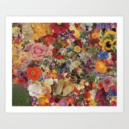 Flower Power Collage Art Print