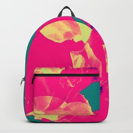 Abstract Roses on Aqua Background Backpack