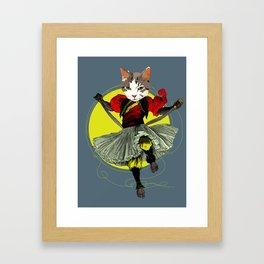 Kitty is a bad-ass Framed Art Print