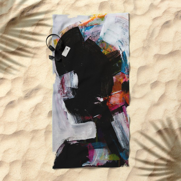 painting 01 Beach Towel