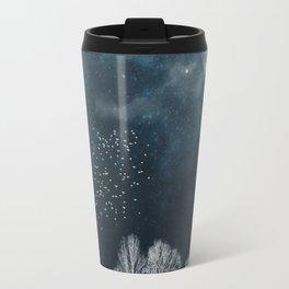 Night in Blue and White Travel Mug