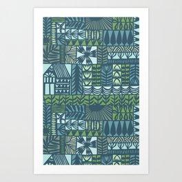 garden patchwork Art Print
