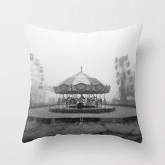 Silent Beach Park Throw Pillow