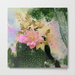 bouquet and vase Metal Print