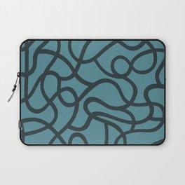 Organic River Lines - Light Blue Laptop Sleeve
