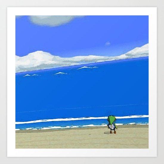 Wake the Sea Art Print