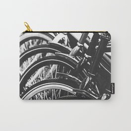Bicycles, Bikes in Black and White Photography Carry-All Pouch