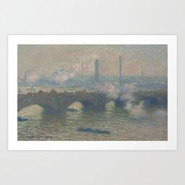 Waterloo Bridge Gray Day Art Print