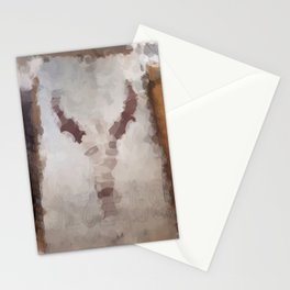 Car Part Cow Skull Stationery Cards
