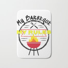 My BBQ My Rules Grilling Fun Barbeque Bath Mat