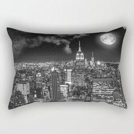 New York Under the Moon Rectangular Pillow