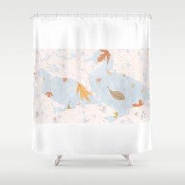Fall Mallards decor Shower Curtain