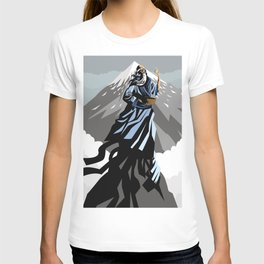 great chinese philosopher thinker on moutain peak T-shirt