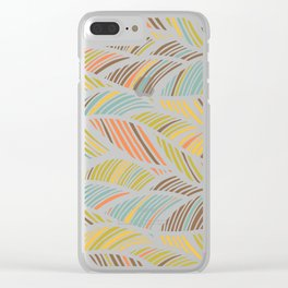 artistic waved lines Clear iPhone Case