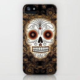 Vintage Sugar Skull iPhone Case