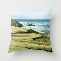 west coast Throw Pillows featuring West Coast by BRITADESIGNS