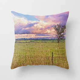 Landscape Redesdale, Victoria Throw Pillow