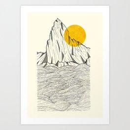 Sun Cliffs Art Print
