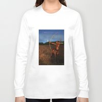 sagittarius Long Sleeve T-shirts featuring Sagittarius by Viggart