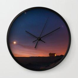 Magic time by the beach in Punta del Diablo, Uruguay Wall Clock