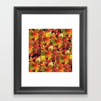 Leaf Pile Framed Art Print