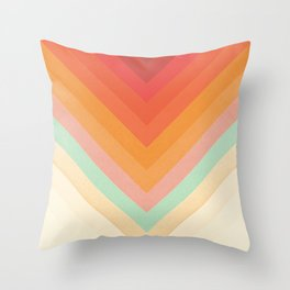 Rainbow Chevrons Throw Pillow