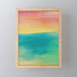 Ocean Sunset Series, 3 Framed Mini Art Print