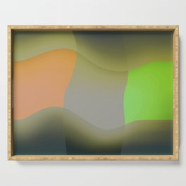 Green abstract Serving Tray
