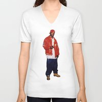 2pac V-neck T-shirts featuring Big L  by Gold Blood