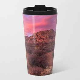 Sunrise at Red Rock Metal Travel Mug