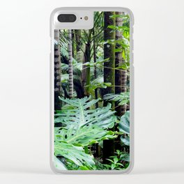 Tropical Forest 05 Clear iPhone Case