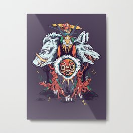 The Wolf Princess (Purple) Metal Print