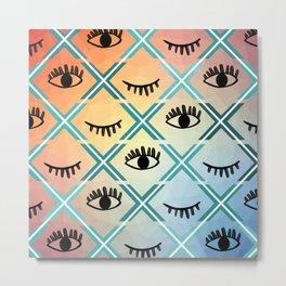 Original Colorful Eyes Design Metal Print