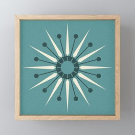 Vintage Sunburst in Blue ©studioxtine Framed Mini Art Print