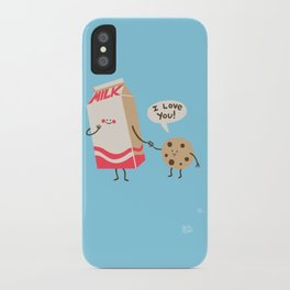 Cookie Loves Milk iPhone Case