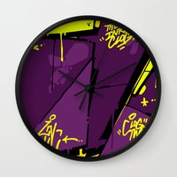 evil Wall Clocks featuring EVIL by clogtwo