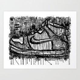 Dunk High Ink Art Print