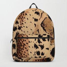 wildlife brown black tan cheetah leopard safari animal print Backpack