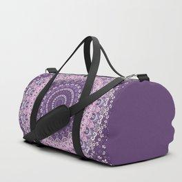 Purple Lace Mandala Duffle Bag