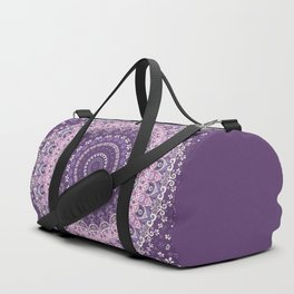 Purple Lace Mandala Duffle Bag