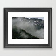 Snow Fog Mountain Olympic National Park foggy forest trees travel love adventure wild america sky 5 Framed Art Print