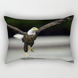 Bald Eagle taking flight Rectangular Pillow
