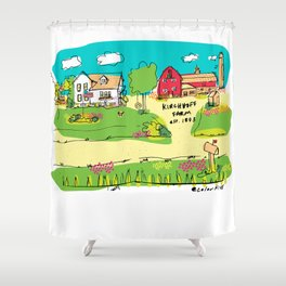 Funny Farm Shower Curtain